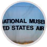 National Museum United States Air Force Round Beach Towel