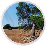 National Park Islands Of Brijuni Round Beach Towel