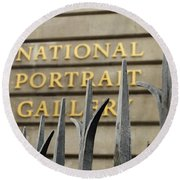 National Portrait Gallery Round Beach Towel