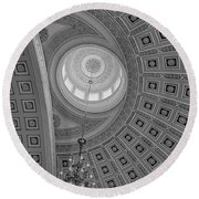 National Statuary Rotunda Bw Round Beach Towel