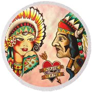 Native Flash Sheet Round Beach Towel