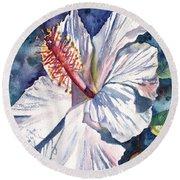 Native Hawaiian Hibiscus Round Beach Towel
