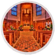 Nativity Of Our Lord Church Round Beach Towel