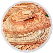 Natural Abstract Canyon De Chelly Round Beach Towel