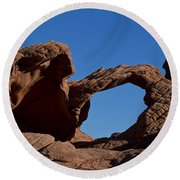 Natural Arch Valley Of Fire State Park Nevada Round Beach Towel