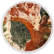 Natural Bridge  Bryce Canyon Round Beach Towel