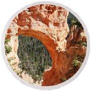 Natural Bridge  Bryce Canyon Round Beach Towel