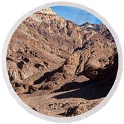 Natural Bridge Canyon Death Valley National Park Round Beach Towel