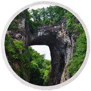 Natural Bridge In Rockbridge County Virginia Round Beach Towel