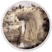 Natural Bridge, Rockbridge County Round Beach Towel