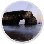 Natural Bridges State Park California Round Beach Towel