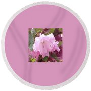 Natural Floral Beauty Round Beach Towel
