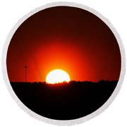 Natural Light Only Round Beach Towel