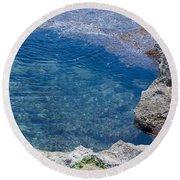 Natural Pool Of Seawater Round Beach Towel
