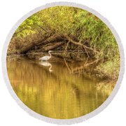 Natural Reflection Round Beach Towel