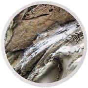 Natural Rock Art 2 Round Beach Towel