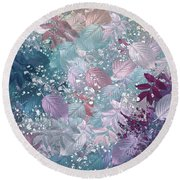 Naturaleaves - S1002b Round Beach Towel by Variance Collections