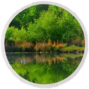 Naturally Reflected Round Beach Towel