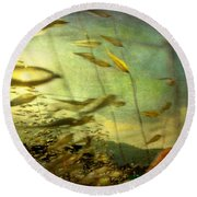 Nature #12. Strong Wind Round Beach Towel