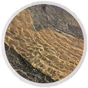 Nature Abstract - Clear Lake Tahoe Water  Round Beach Towel