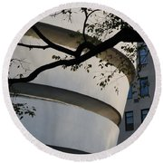 Nature And Architecture Round Beach Towel