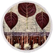 Nature Canvas - 01m4 Round Beach Towel