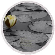 Nature Does Not Hurry Waterlily Round Beach Towel