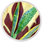 Nature Imitates Art Round Beach Towel