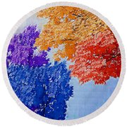 Nature In Its New Colors Round Beach Towel