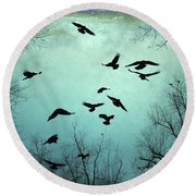 Nature In Motion Round Beach Towel