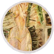Nature In Nude Round Beach Towel