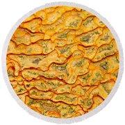 Nature Pattern Iron Oxide Mineral Sediment Crust Round Beach Towel