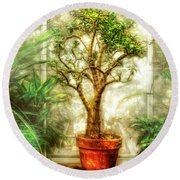 Nature - Plant - Tree Of Life  Round Beach Towel by Mike Savad