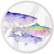 Natures Artwork Round Beach Towel
