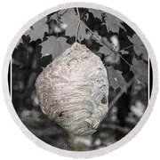 Natures Bee Hive Round Beach Towel
