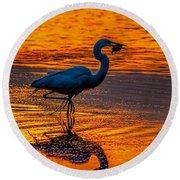 Natures Fisherman Round Beach Towel