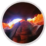 Natures Flare For Art Round Beach Towel