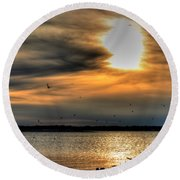 Natures Melody  Round Beach Towel