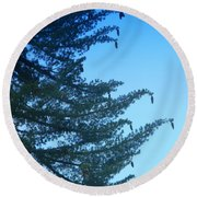 Natures Ornaments Round Beach Towel