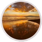 Nature's Painting Round Beach Towel