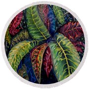 Nature's Palette Round Beach Towel