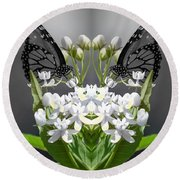 Natures Reflection Round Beach Towel