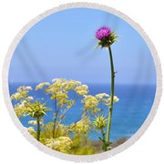 Natures Song Round Beach Towel by Lynn Bauer