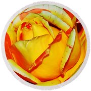 Nature's Vivid Colors Round Beach Towel