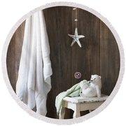 Nautical Bathroom Round Beach Towel