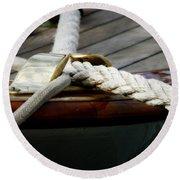 Nautical Textures Round Beach Towel