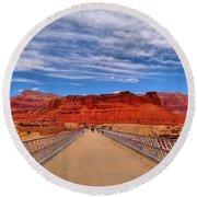Navajo Bridge Round Beach Towel