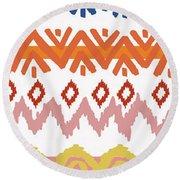 Southwest Pattern IIi Round Beach Towel
