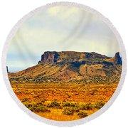 Navajo Nation Monument Valley Round Beach Towel