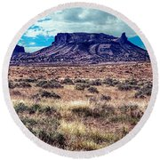 Navajo Reservation Series 1 Round Beach Towel